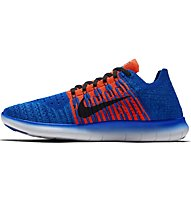 Nike Free Run Flyknit Natural Laufschuh Herren, Blue