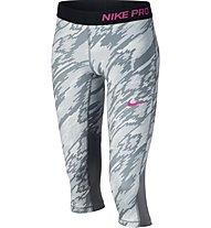 Nike Girls' Pro Cool Capri Pantaloni corti fitness bambina, Grey