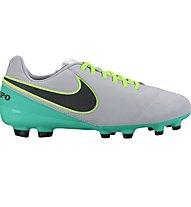 Nike Tiempo Legend VI FG Jr - scarpa da calcio terreni compatti bambino, Grey/Turquoise