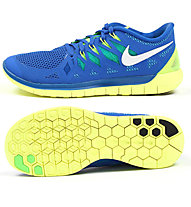 Nike Nike Free 5.0 - Laufschuhe, Blue/Yellow