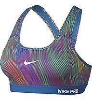 Nike Pro Classic Padded Frequency reggiseno, Multicolor