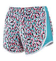 Nike Tempo Allover Print pantaloncini running ragazza, White/Blue/Black/Pink
