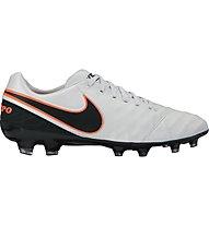 Nike Tiempo Legacy II FG - scarpa da calcio, Grey/Black/Orange
