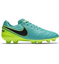 Nike Tiempo Legacy II FG - scarpe da calcio, Clear Jade/Black Volt