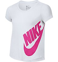 Nike Girls' Futura Training T-Shirt fitness bambina, White