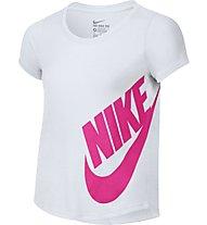 Nike Girls' Futura Training T-Shirt Mädchen, White