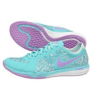 Nike Dual Fusion TR 3 Print Trainingsschuh Damen, Light Blue