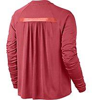 Nike Women Sportswear Bonded Top - langärmliges Damen-Fitnessshirt, Red