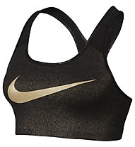 Nike Pro Classic Swoosh Gold Graphic Sport-BH, Black/Metallic Gold