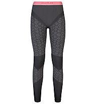 Odlo Blackcomb Evolution Warm lange Damen-Unterhose, Odlo concrete grey/Black