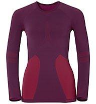 Odlo Evolution Warm Crew Neck L/S Shirt W's, Magenta Purple/Pomegranate