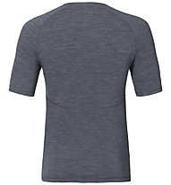 Odlo Revolution TW Warm Shirt SS crew neck, Grey Melange