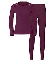 Odlo Set Shirt l/s Pants Evolution WARM Sportunterwäsche Komplet für Damen, Pink