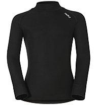 Odlo Warm Kids Shirt LS turtle neck langärmliges Kinder-Funktionsshirt, Black
