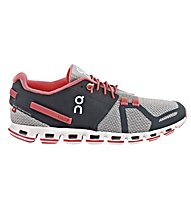ON Cloud W - scarpa running donna, Grey/Neon Pink