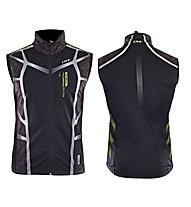 One Way Gilet da fondo Carbon 4 Softshell Vest, Black/Green