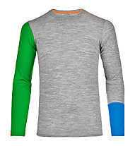 Ortovox 185 Rock'n Wool Long Sleeve langärmliges Merino-Funktionsshirt, Grey blend