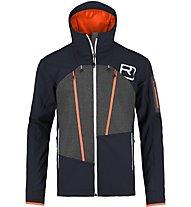 Ortovox Pordoi Jacket Herren Freeridjacke mit Kapuze, Blue
