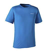 Patagonia Short-Sleeved Fore Runner T-Shirt trailrunning, Andes Blue