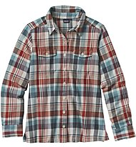 Patagonia Ws Long -Sleved shirt Langarmdamenbluse, Water/Red