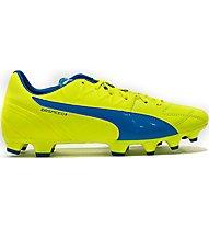 Puma EvoSpeed 3.4 Lth FG Scarpa Calcio, Light Yellow/Light Blue