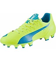 Puma EvoSpeed 4.4 FG Scarpa Calcio, Light Yellow/Dark Blue