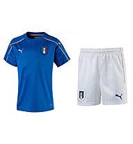 Puma Set  bambino maglia + pantalone corto calcio della Nazionale Italia Replica Originale EURO 2016