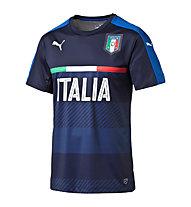 Puma FIGC Kids Italia Training Jersey - Fußballshirt Kinder, Black/Dark Blue