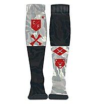 Reebok Crossfit Printed Knee Socks Training/Fitness Socken, Coal Grey