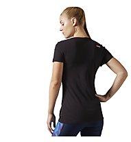 Reebok Crossfit Support Your Local Box V-Neck T-Shirt Damen, Black