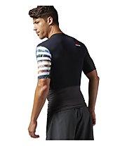 Reebok One Series PW3R Kompression T-Shirt Männer, Coal Grey