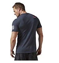 Reebok CrossFit Forging Elite Fitness T-Shirt Herren, Blue