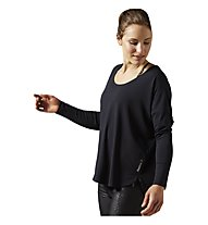 Reebok Studio Lux Wool Blend Cover Up Pullover Damen, Black