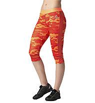 Reebok Workout Ready Camo Capri - pantalone 3/4 donna, Light Orange