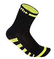rh+ Ergo Sock (9 cm) Fahrradsocken, Black/Fluo Yellow
