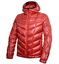 rh+ Pack Down Hooded Jacket Herren Daunenskijacke mit Kapuze, Red