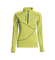 Rock Experience Infinity 1/2 Zip Shirt Langarm Damen, Lime Punch