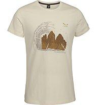 Salewa Abram T-Shirt tempo libero, Chalk