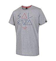 Salewa Fanes Minimal DRY T-Shirt, Grey Melange