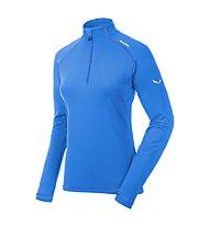 Salewa Ortles Cubic PL Shirt Langarm Damen, Royal Blue