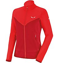 Salewa Ortles Ptc W Fz Giacca in Pile Donna, Red