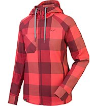 Salewa Puez Long Sleeve Shirt Camicia a maniche lunghe trekking donna, Red