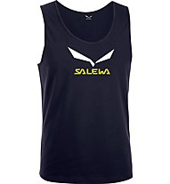 Salewa Solidlogo Top arrampicata, Night Black