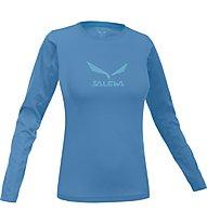 Salewa Solidlogo T-Shirt Langarm Damen, Opale
