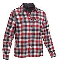 Salewa Therma PL M L/S Shirt Camicia a maniche lunghe trekking, M Boxy Red/Steel