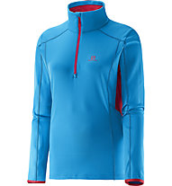 Salomon Discovery TR 1/2 Zip Maglia a maniche lunghe donna, Methyl Blue/Lotus Pink