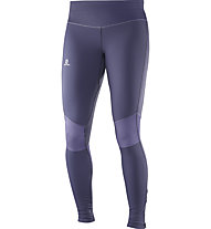 Salomon Elevate Warm Tight W - pantaloni running donna, Grey
