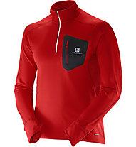 Salomon Trail Runner Warm Shirt, Matador/Black