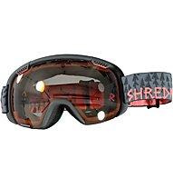 Shred Smartefy Forest Grey - Skibrille, Grey/Orange