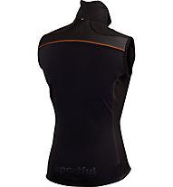Sportful Gilet sci di fondo Squadra Corse 2 Vest, Black/Dark Orange